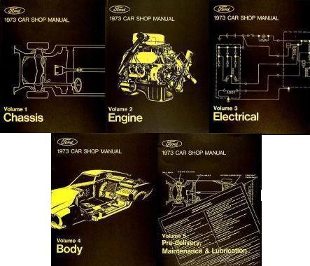 1973 FORD/LINCOLN/MERCURY CAR 1973 Ford/Lincoln/Mercury Five Volume Shop Manual Set. Price $39.95  sc 1 st  Taylor Automotive Tech-Line & Taylor Automotive Tech-Line Factory Ford and Mercury Car Shop ... markmcfarlin.com