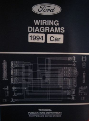 ford factory wiring diagram books and manuals 1994 ford lincoln mercury car wiring diagrams price 20 00 5 s h